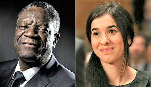 Denis-Mukwege-e-allattivista-yazida-Nadia-Murad